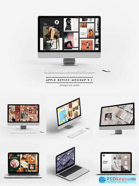 iMac and MacBook mockup and scene generator