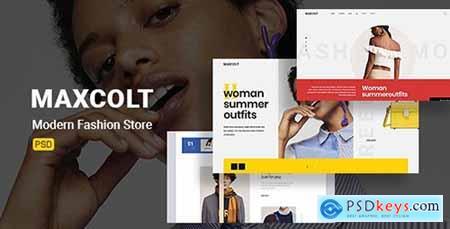 Maxcolt – Modern Fashion Store PSD Template 23706788