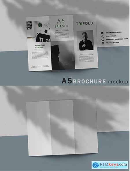 A5 Trifold Brochure Mockup V.1