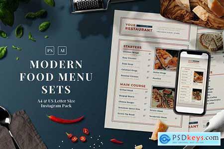 Modern Food Menu Set