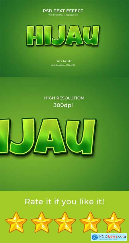 Hijau Green 3D Game Logo Text Effect 26999605