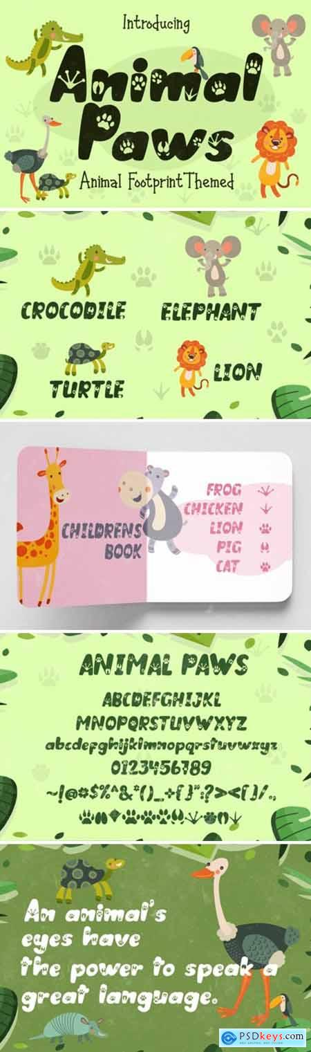 Animal Paws Font