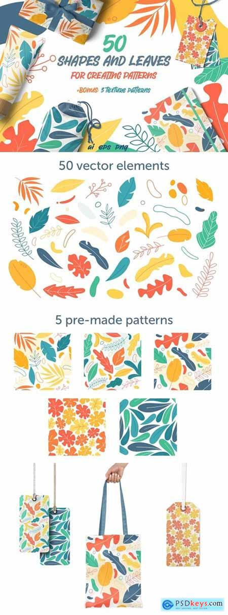 Shapes and leaves for patterns 4372348