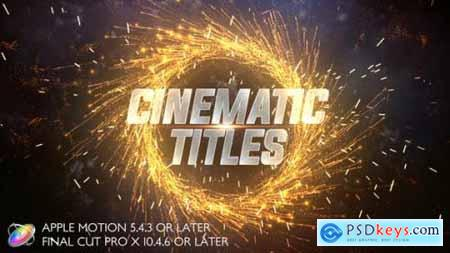 Cinematic Trailer Titles Apple Motion 27422919