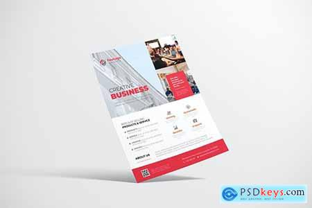 Property Flyer Design with Red Color