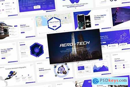 Aero-Tech Technology Powerpoint and Keynote Template