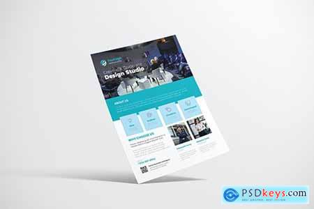 Clean Creative Business Design with Blue Color250