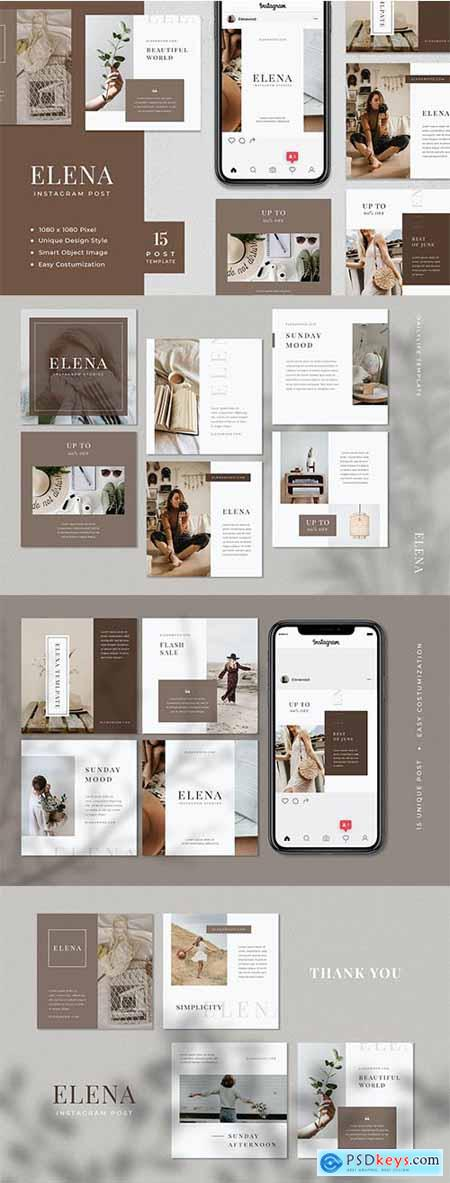 Elena - Fashion Instagram Post Template