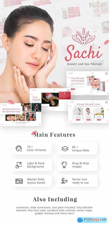Sachi Creative Animated Beauty Spa Therapy PowerPoint Presentation Template 25119348