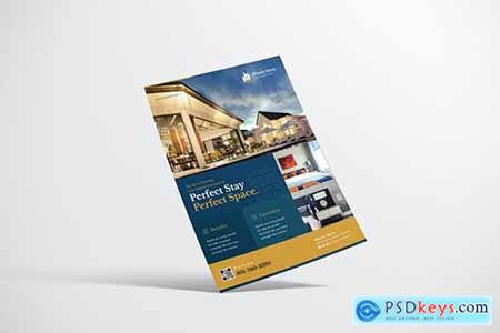 Luxurious Hotel Flyer Design with Gold Accent