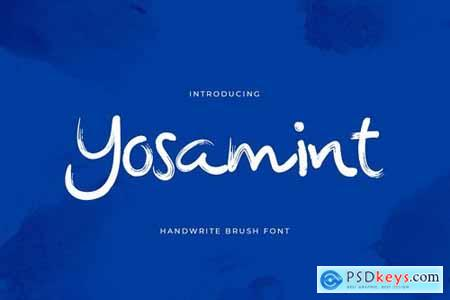 Yosamint Handwritten Brush Font