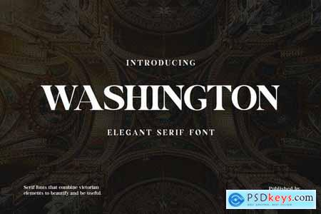 Washington Display Serif Font
