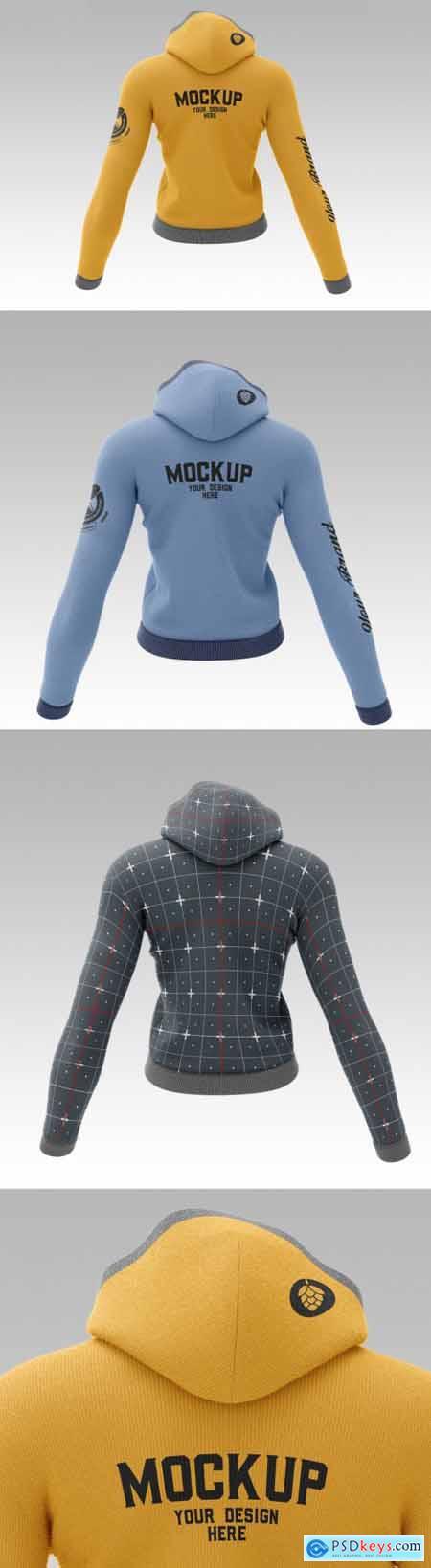 Female Sweatshirt Hoodie Mockup 5088028