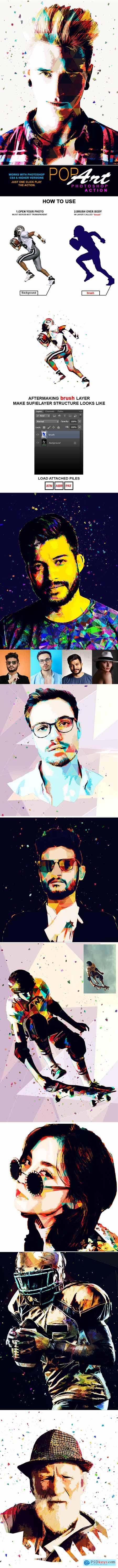 Pop Art Photoshop Action 26433420