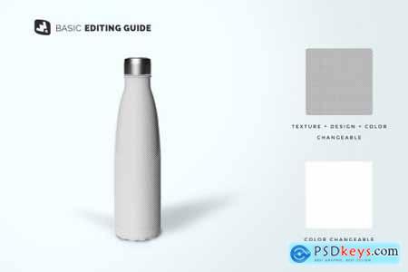 Steel Thermos Bottle Mockup 4824098