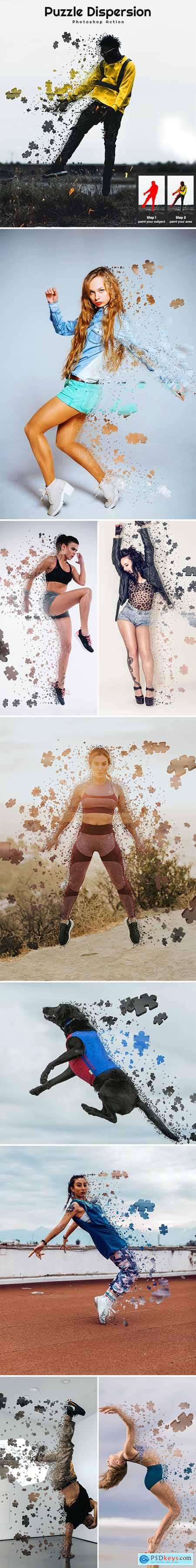 Puzzle Dispersion Photoshop Action 26396228