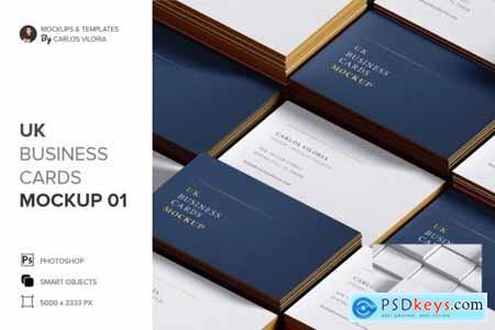 UK Business Cards Mockup 01 5124050
