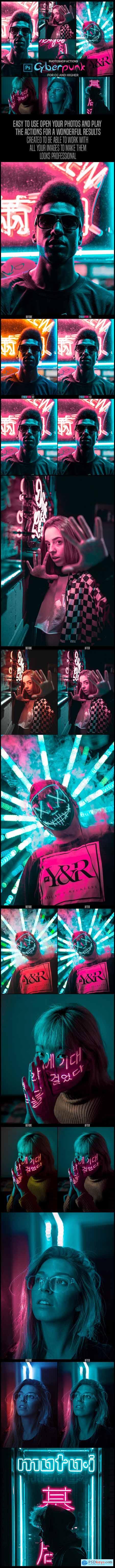 Cyberpunk - Photoshop Actions 26311519