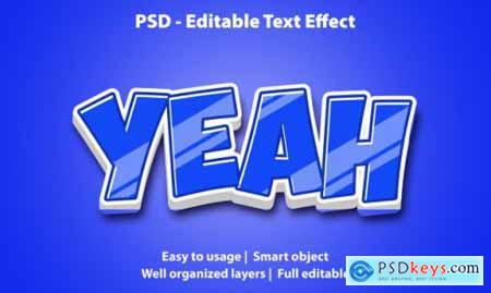 Editable text effect