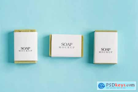 Soap wrap box mock-up package and bar soap