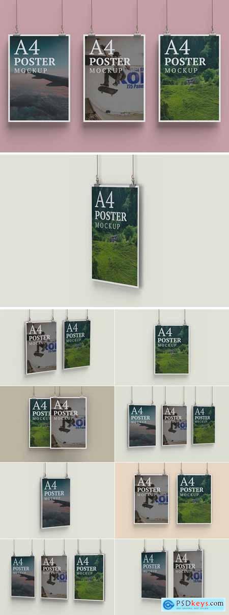 Two A4 Poster Mockup Bundle