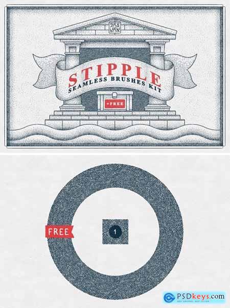 Stipple Seamless Brushes Kit 4615045