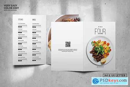 Minimal Elegant Food Menu Design A4 & US Letter