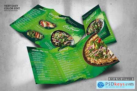 Eco Green Food Menu Design A4 & US Letter