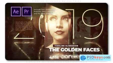 Timeline Slideshow Golden Faces 27456769