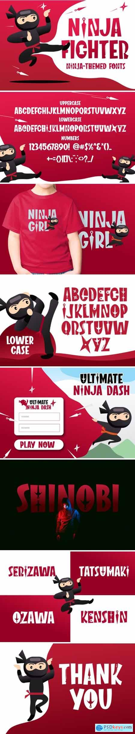 Ninja Fighter Font