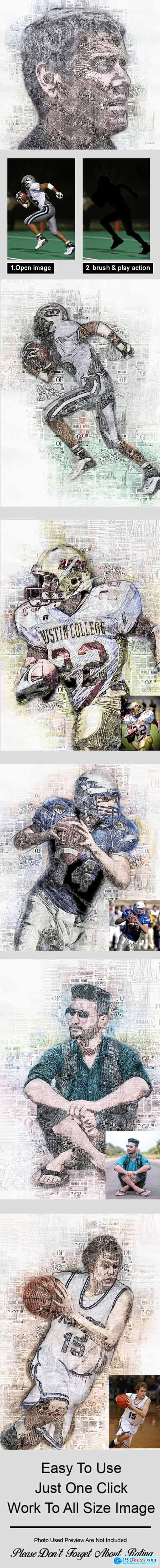 Newspaper Art Photoshop Action Vol 2 26325265