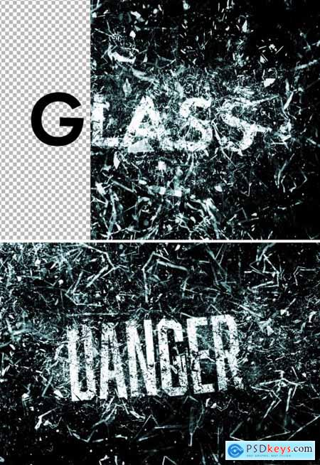 Glass Explosion Text Effect Mockup 361442418