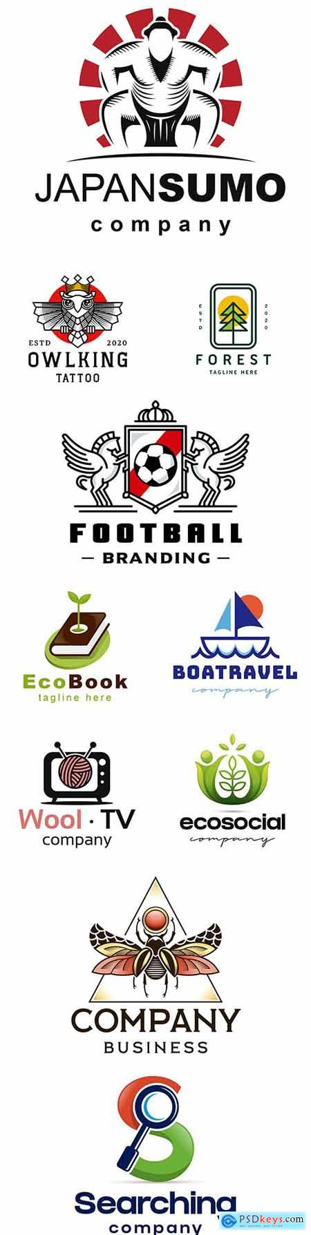 Brand name company logos business corporate design 16