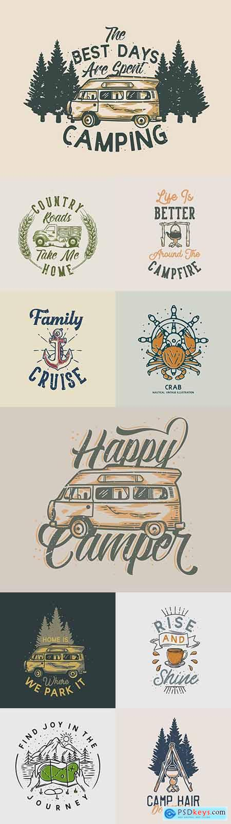 Brand name vintage logos business corporate design