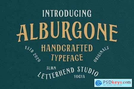 Alburgone - Display Typeface