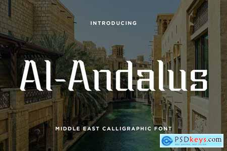 Al-Andalus - Middle East Calligraphic Font