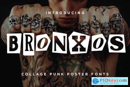 Bronxos - Collage Punk Poster Font