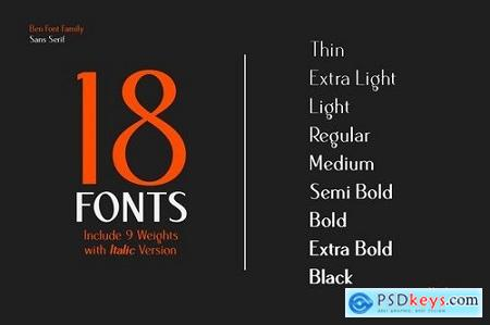 Ben Sans Serif Family 5087260