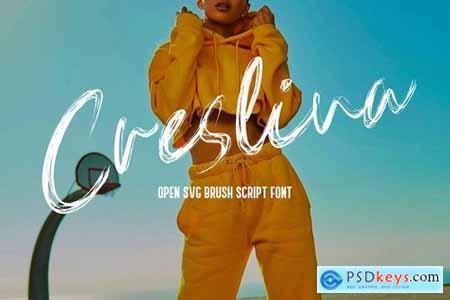 Creslina - SVG Brush Script Font 5122329