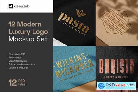 Elegant Luxury Logo Mockup Set 5144614