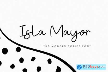 Isla Mayor - The Modern Script Font