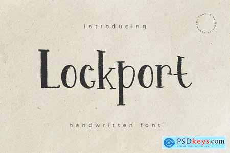 Lockport - Handwritten Font