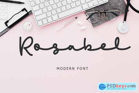 Rosabel Modern Signature Font