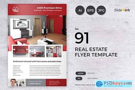 Real Estate Flyer Template 91 - Slidewerk