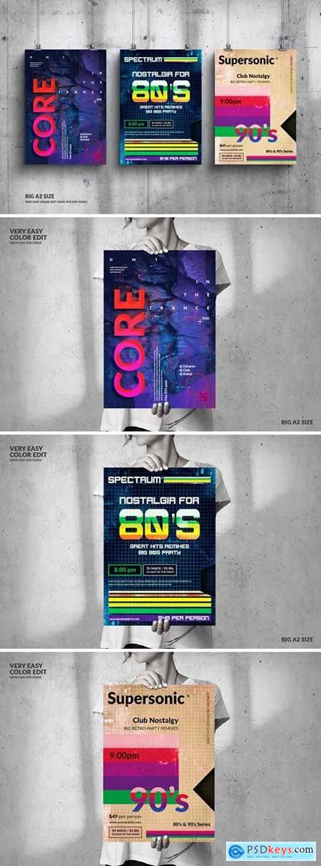 Music Event Big Poster Design Set DNZSW22