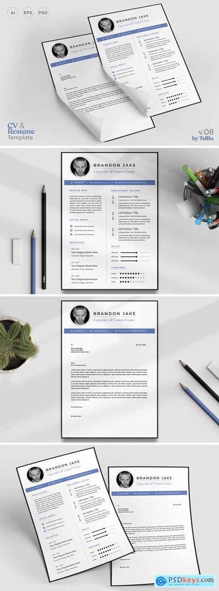 Resume CV Template v08