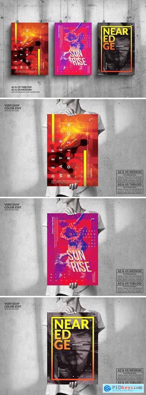 Music Event Big Poster Design Set 4MRGCVR