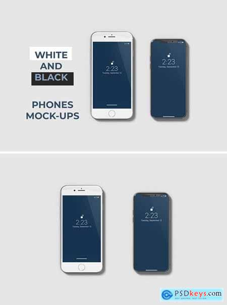 White and Black Phone Mockups
