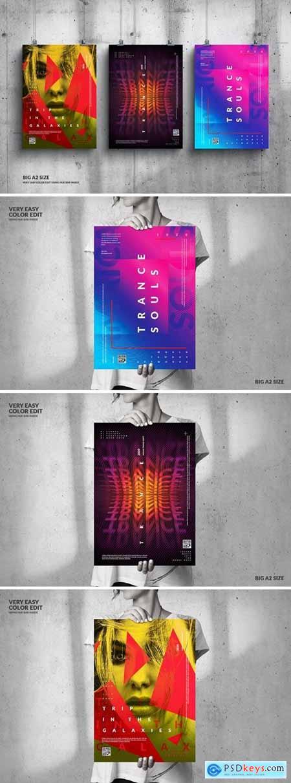 Music Event Big Poster Design Set B3K9ZQ2
