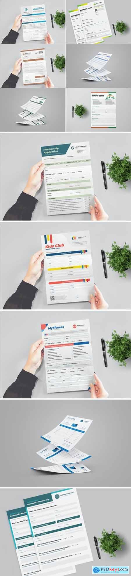 Clean Business Form and Invoice Template